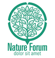 Nature Forum vector image vector image
