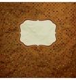 Vintage Polka Dots Card vector image vector image