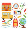 Colorful school set vector image vector image