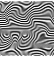 abstract 3d wave striped textured monochrome vector image