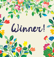 Background for the winner certificate with floral vector image