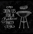 barbecue calligraphic template vector image