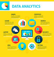 data analytics infographic vector image