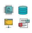 data center tower folder secure isolated vector image