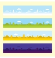 Four seamless game location assets vector image
