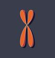 paper sticker on stylish background chromosome vector image
