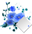 Watercolor hand drawn flowers and leaves of the vector image