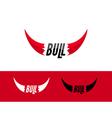 Bull logo design template Flat bull logo sign vector image