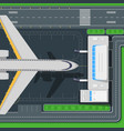airport top view concept in flat design vector image