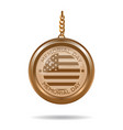 round gold medallion for memorial day vector image vector image