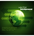 business concept design with green globe and vector image