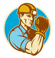 coal miner vector image