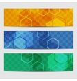 Abstract geometric invitation or banner vector image