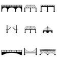 bridge icon set vector image