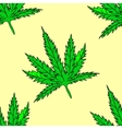 Cannabis leaf Seamless vector image