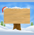 christmas santa hat sign background vector image