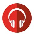 headphones music sound device shadow vector image