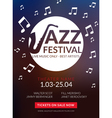 musical flyer Jazz festival Music poster vector image