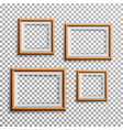 realistic photo frame set square a3 a4 vector image