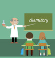 teacher lesson students chemistry vector image
