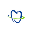 tooth dentist abstract medic logo vector image