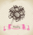 Wedding bouquet hand drawn vector image vector image