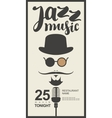man face with inscription jazz music vector image vector image