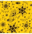 Yellow floral seamless pattern vector image