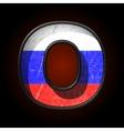 Russian metal figure o vector image