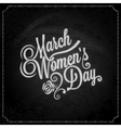 8 march women day chalk background vector image