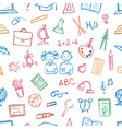 Seamless pattern doodles elements vector image