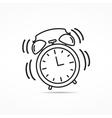 Alarm Clock Line Icon vector image vector image