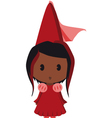 afro american princess vector image vector image