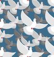 White Dove seamless pattern flock of white doves vector image