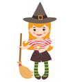 Cute witch vector image