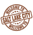 welcome to Salt Lake City vector image