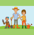 a young family father mother and child are vector image