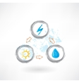 electricity grunge icon vector image
