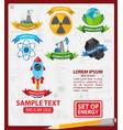 energetics logos with ribbon energetics vector image