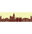 European architectural monuments vector image
