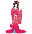 Japan girl vector image