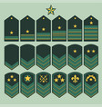 military ranks set army patches vector image