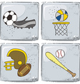 sports theme vector image