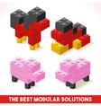 Toy Block Farm 04 Games Isometric vector image