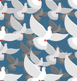 White Dove seamless pattern flock of white doves vector image