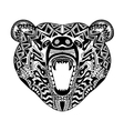 Zentangle stylized bear Sketch for tattoo or t vector image