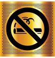 No smoking symbol on a bronze background vector image