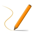 Orange pencil vector image vector image