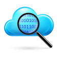 clouds digital search on white background vector image