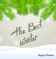 The best winter superior vacation vector image vector image